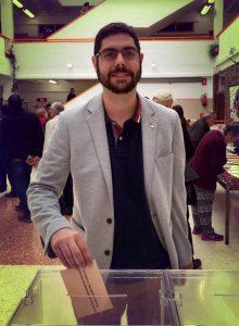 Ramon Morcillo, 1er sur la liste RCN-NOK, en train de voter, le 24 mai dernier.
