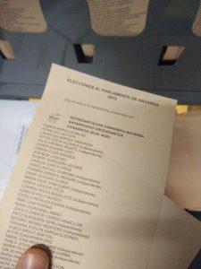 La liste RCN-NOK pour les élections autonomes de Navarre du 24 mai 2015.