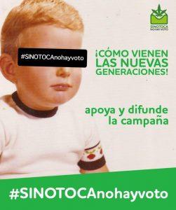 """Une affiche e la campagne """"SiNoTocaNoHayVoto"""""""