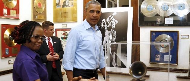 Barack Obama au musée Bob Marley, Kingston, Jamaïque, le 8 avril 2015. REUTERS/Jonathan Ernst