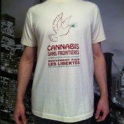 Tee Shirt Cannabis Sans Frontières