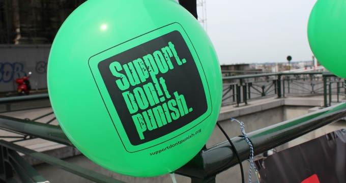 CP #7 Support Don't punish 2015: 7 villes se mobilisent contre la répression des usager-e-s des drogues