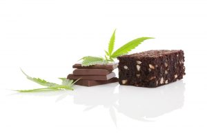 edibles brownies chocolat au Cannabis