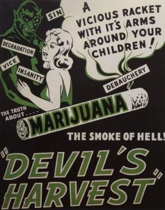 Propagande anti Cannabis affiche