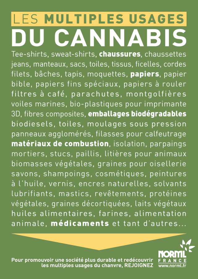 Les Multiples Usages du chanvre NORML France