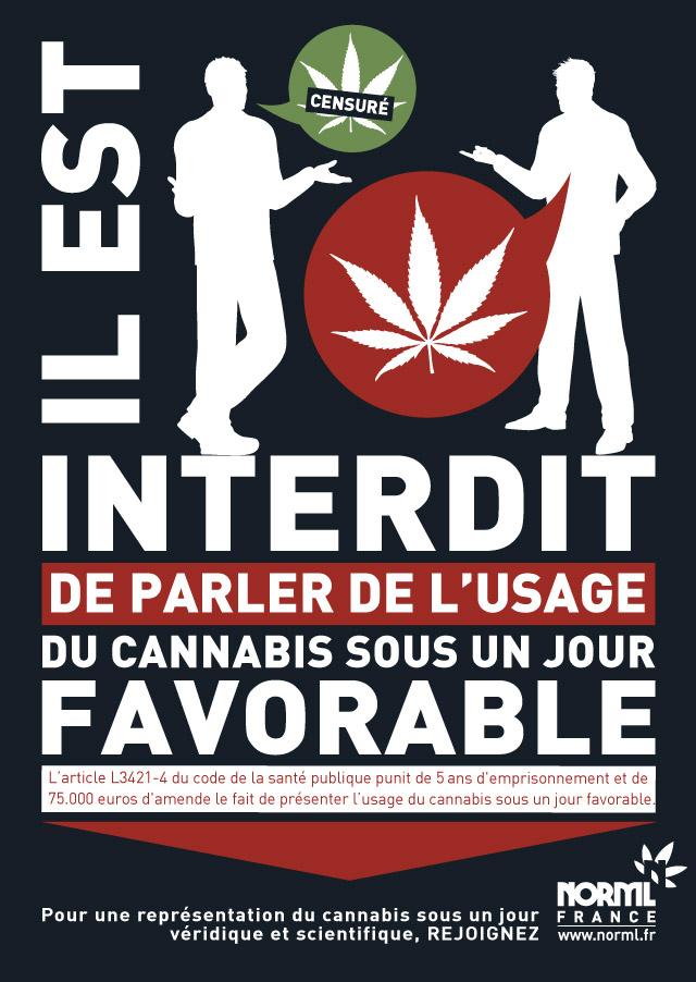 Drogues présentation sous un jour favorable usage stupéfiants NORML France