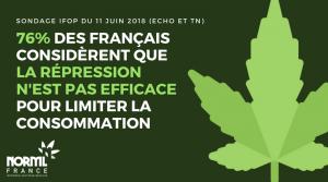 76% des français jugent la répression du cannabis inefficace pour limiter la consommation