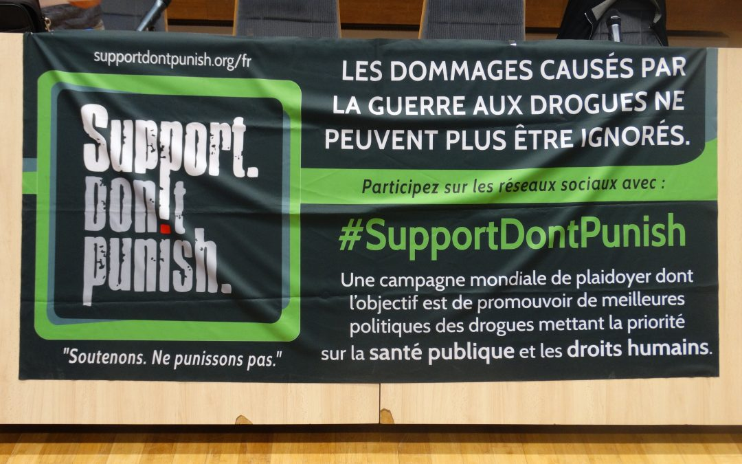 Support don't Punish – Journée d'action du 26 juin 2018 – Ne punissons plus !