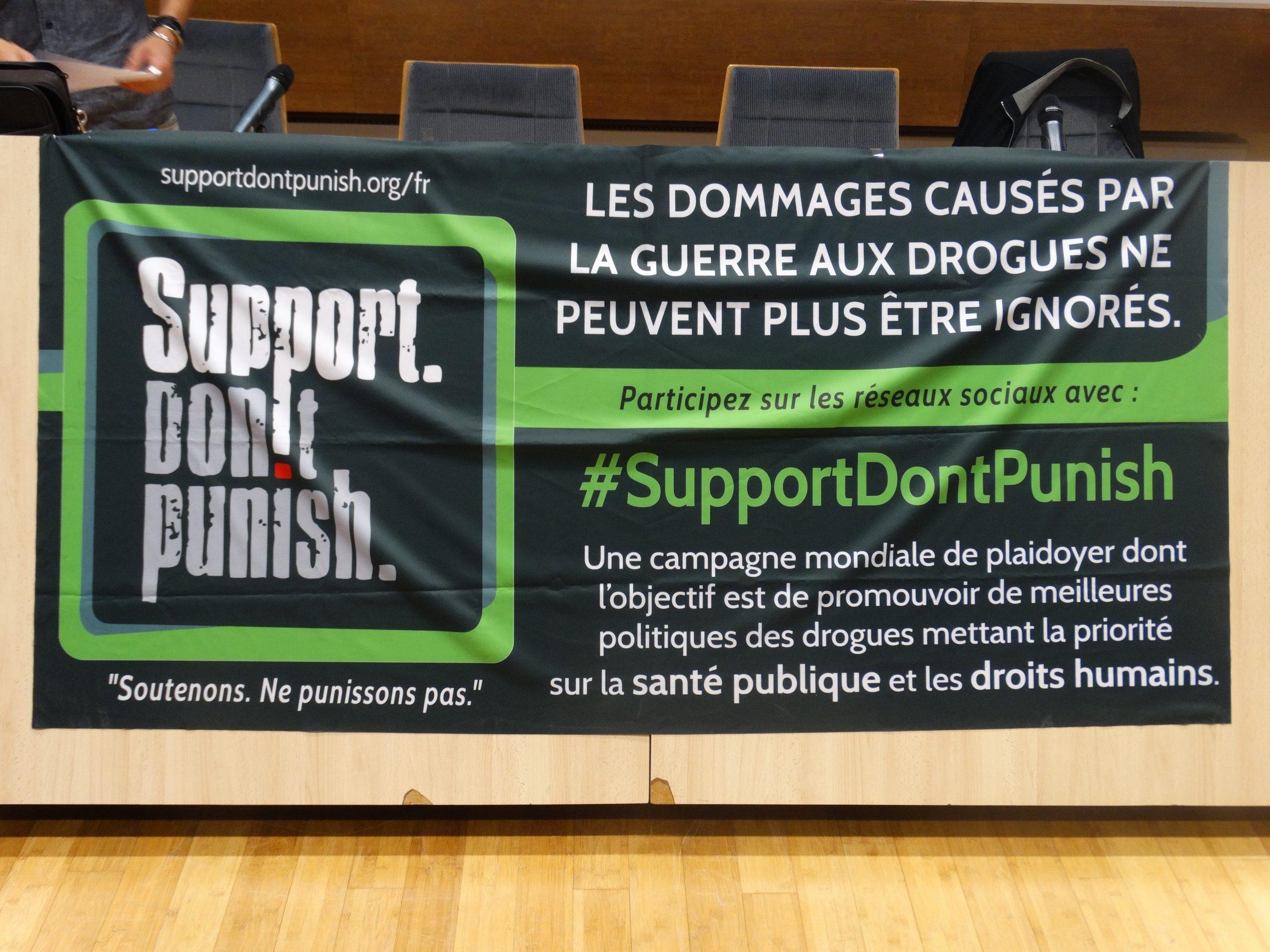 Support don't Punish – Journée d'action du 26 juin 2018 – Ne punissons plus !