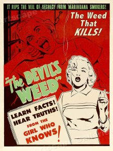 "1949 - Poster ""Devil's weed"""
